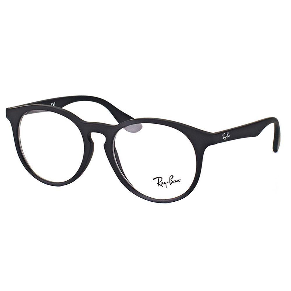 3856819daab4b7 Ray-Ban RY 1554 3616 Children s Black Rubber and Plastic 48-millimeter  Round Eyeglasses (Rubber Black)