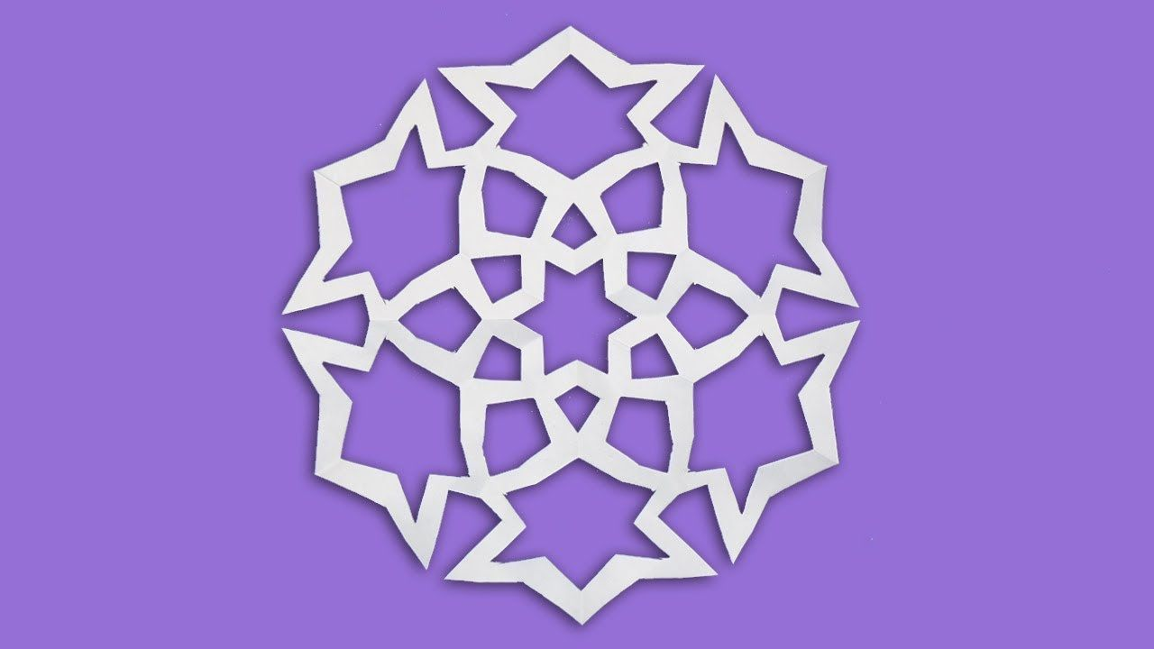 Learn How To Make Paper Snowflakes Easy Origami Snowflakes
