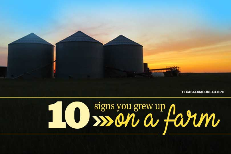 10 Signs You Grew Up On A Farm Farm Texas Farm Texas Farm Bureau