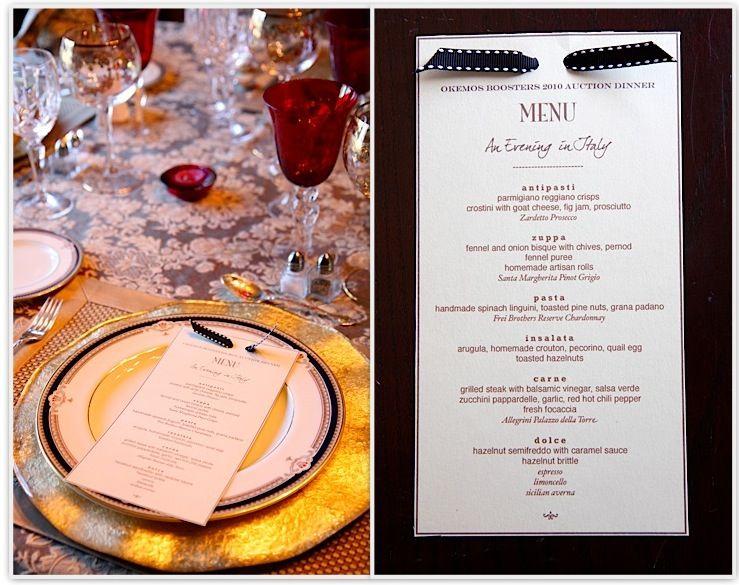 The Italian Dish - Posts - Auction Dinner Party Favorite Recipes - italian menu