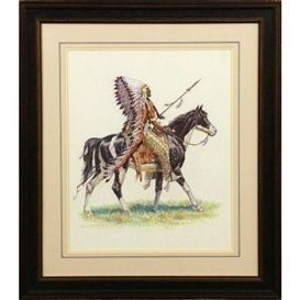 Artwork by Robert Farrington Elwell, Sioux Chief, Made of pastel kp