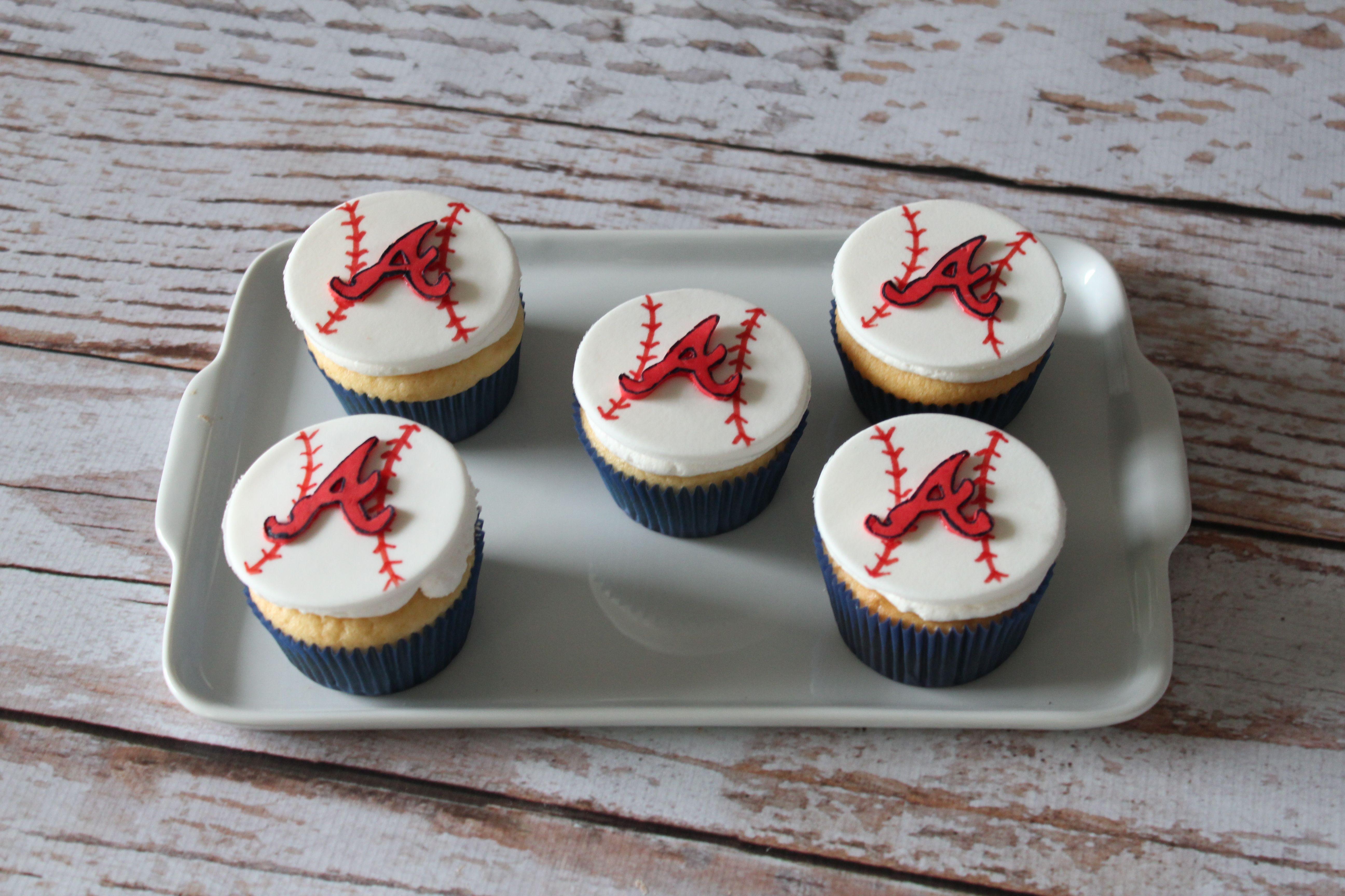 Atlanta Braves Cupcakes Cake Ops Cakery Birthday Party