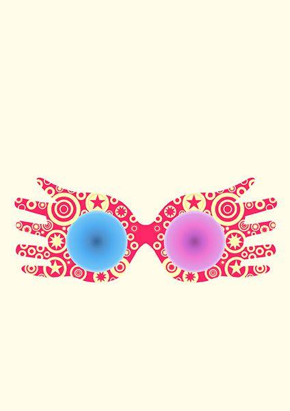 Spectrespecs Luna Lovegood Glasses Harry Potter On Behance Luna Lovegood Glasses Luna Lovegood Art Luna Lovegood Tattoo