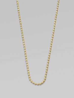 Temple St  Clair 18K Yellow Gold Ball Chain Necklace/16