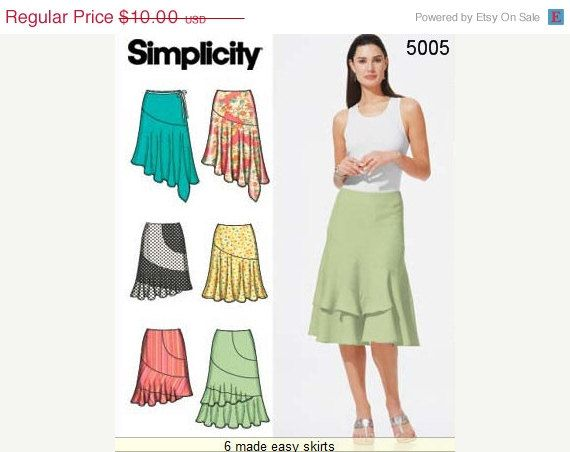 On Sale Simplicity Skirt Pattern 40 Misses' by ThePatternSource Inspiration Simplicity Patterns On Sale