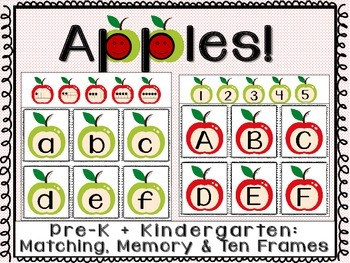 Apples Matching LettersNumbersTen Frames Game Of Memory