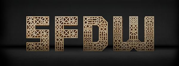 San Francisco Design Week (SFDW). Letterforms were put on display throughout city. Posted on Behance by Michael Mason.