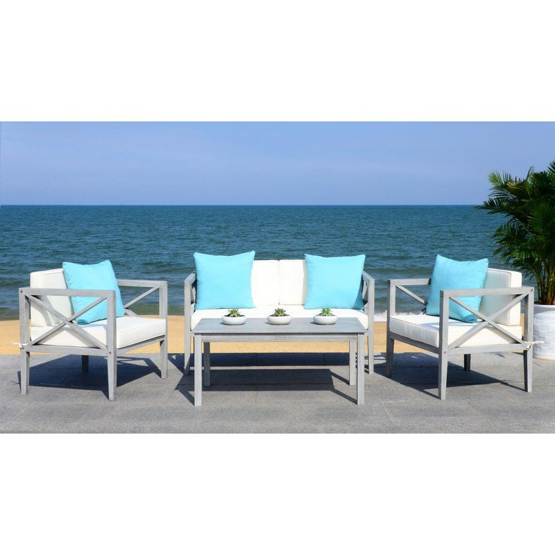 Beachcrest home delray 4 piece sofa seating group with