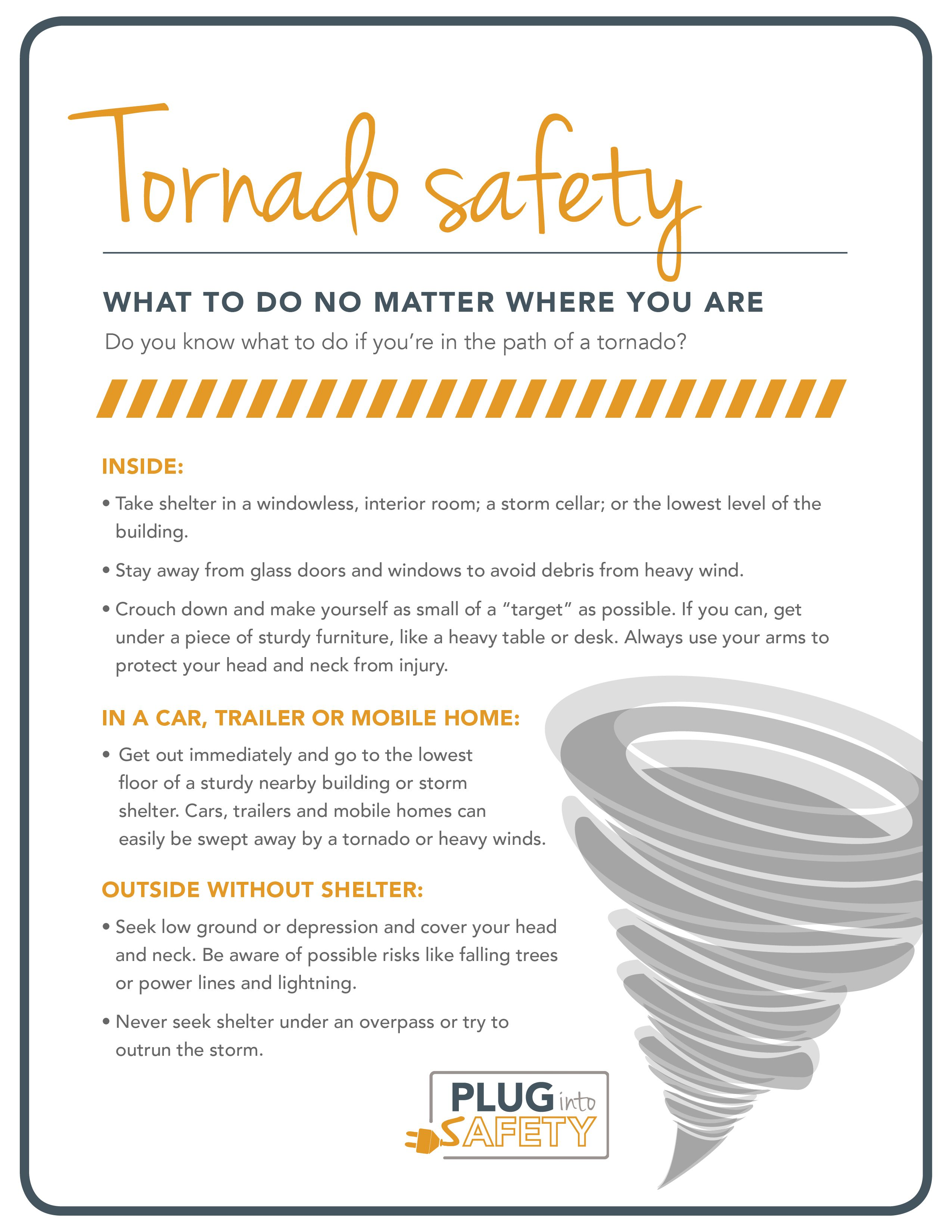 Tornado Safety Worksheet