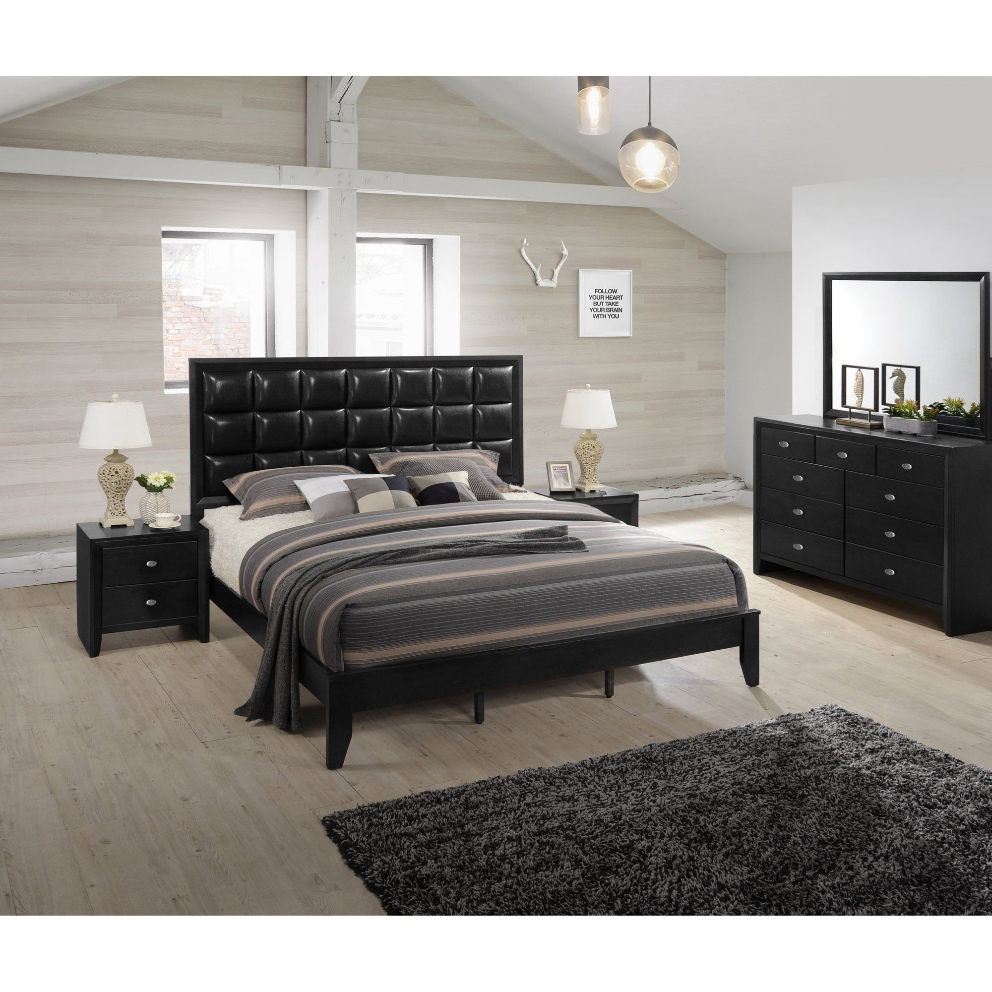 Black Bedroom Sets Black Platform King Bedroom Sets ...