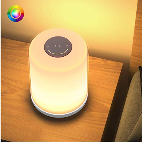 Bedside Lamp Lbell Touch Control Table Lamp Dimmable Warm White Night Light Rgb Color Changing Lighting In 2020 Living Room Lighting Bedside Lamp White Night Lights