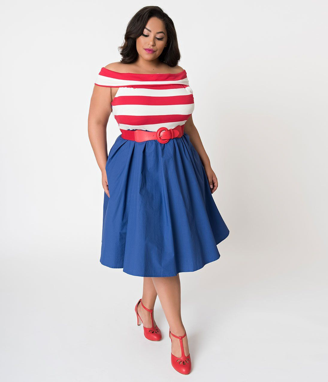 19+ Plus size red white and blue dress ideas in 2021