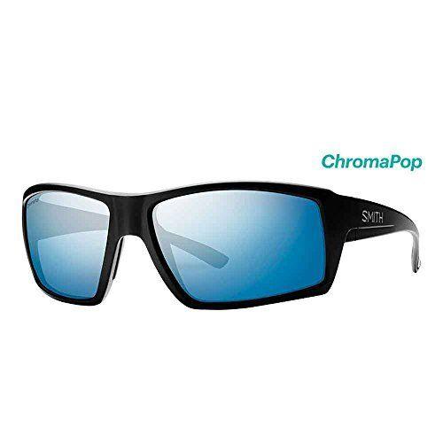 bbc0a7e95c Smith Challis ChromaPop Polarized Sunglasses Matte Black Blue Mirror Lens