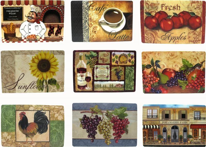 Vinyl Placemats Popular Kitchen Table Design Assorted