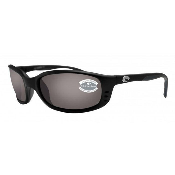 b53c1c8743d Costa Del Mar BR11OGP Unisex Brine Black Frame Grey Lens Polarized  Sunglasses http