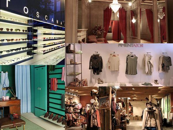 iluminacion de tiendas de ropa zapatos moda
