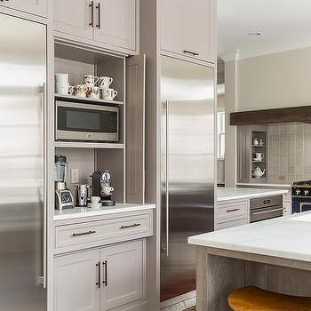Kitchen Coffee Station with Fold In Doors   Kitchen cabinet ...