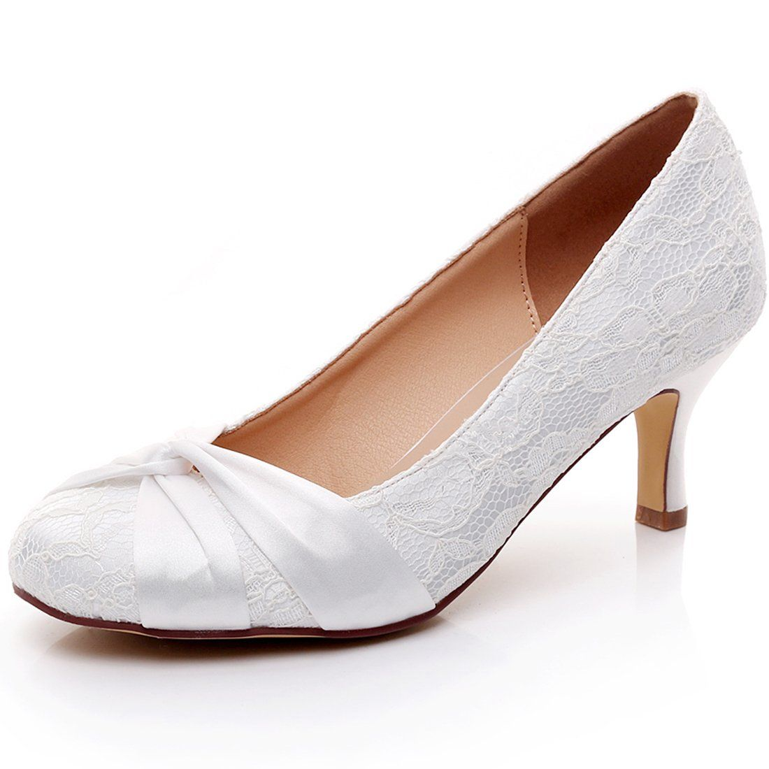 LUXVEER Fashion Lace Wedding Shoes