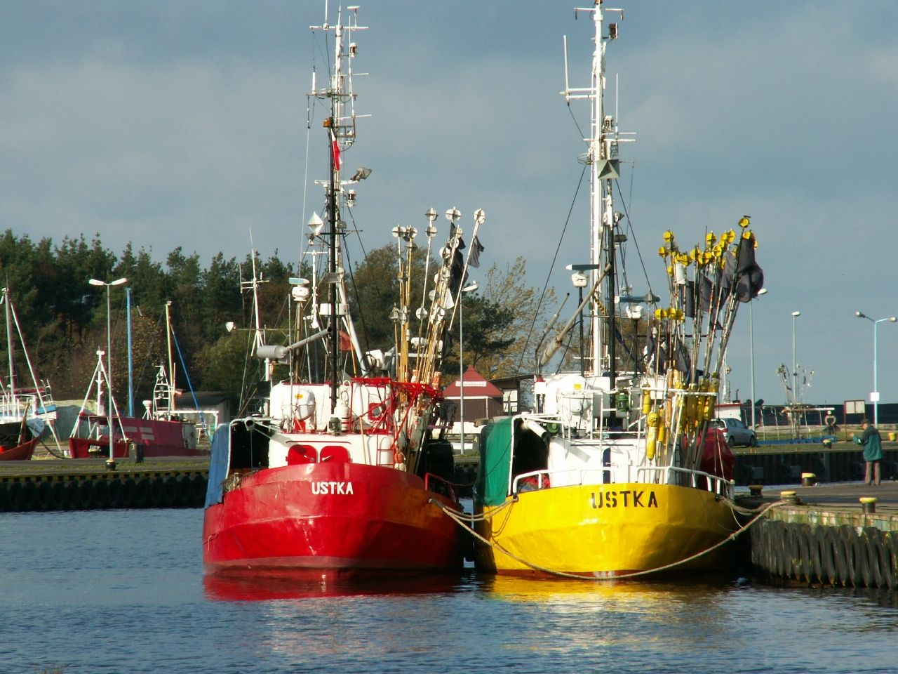 Fishing boats in Ustka
