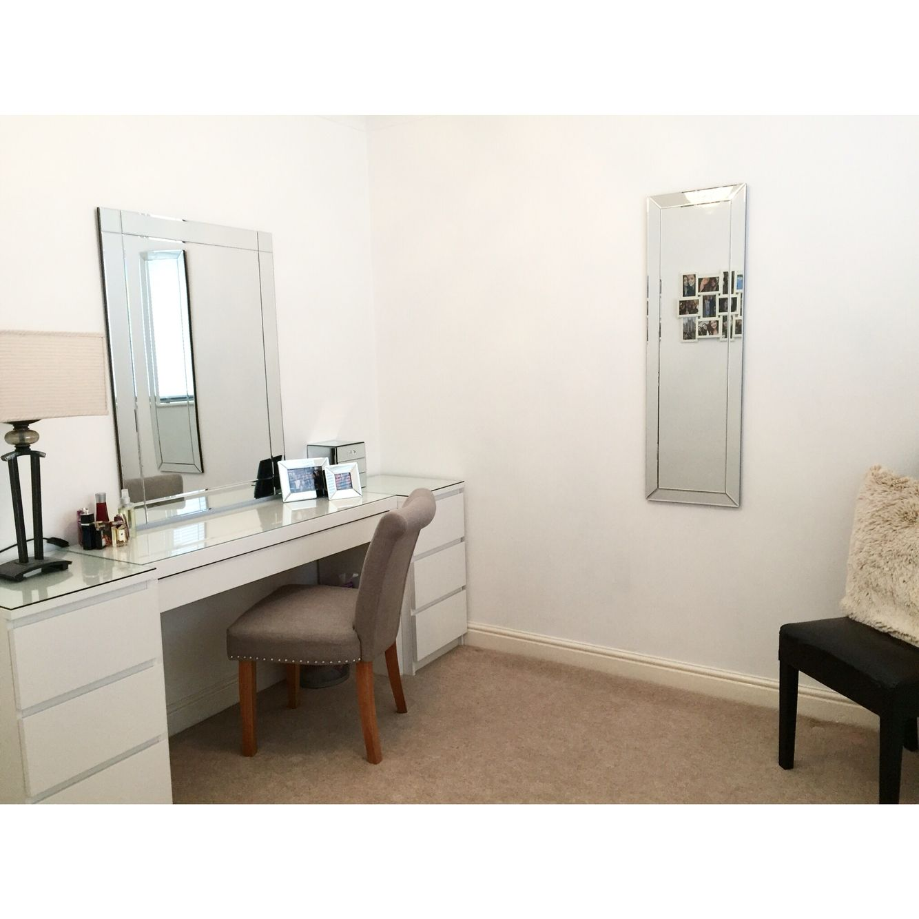 My dressing room at home. IKEA dressing table and draws