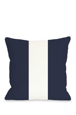 Main Line Indoor/Outdoor Pillow - Navy White - 18 x 18