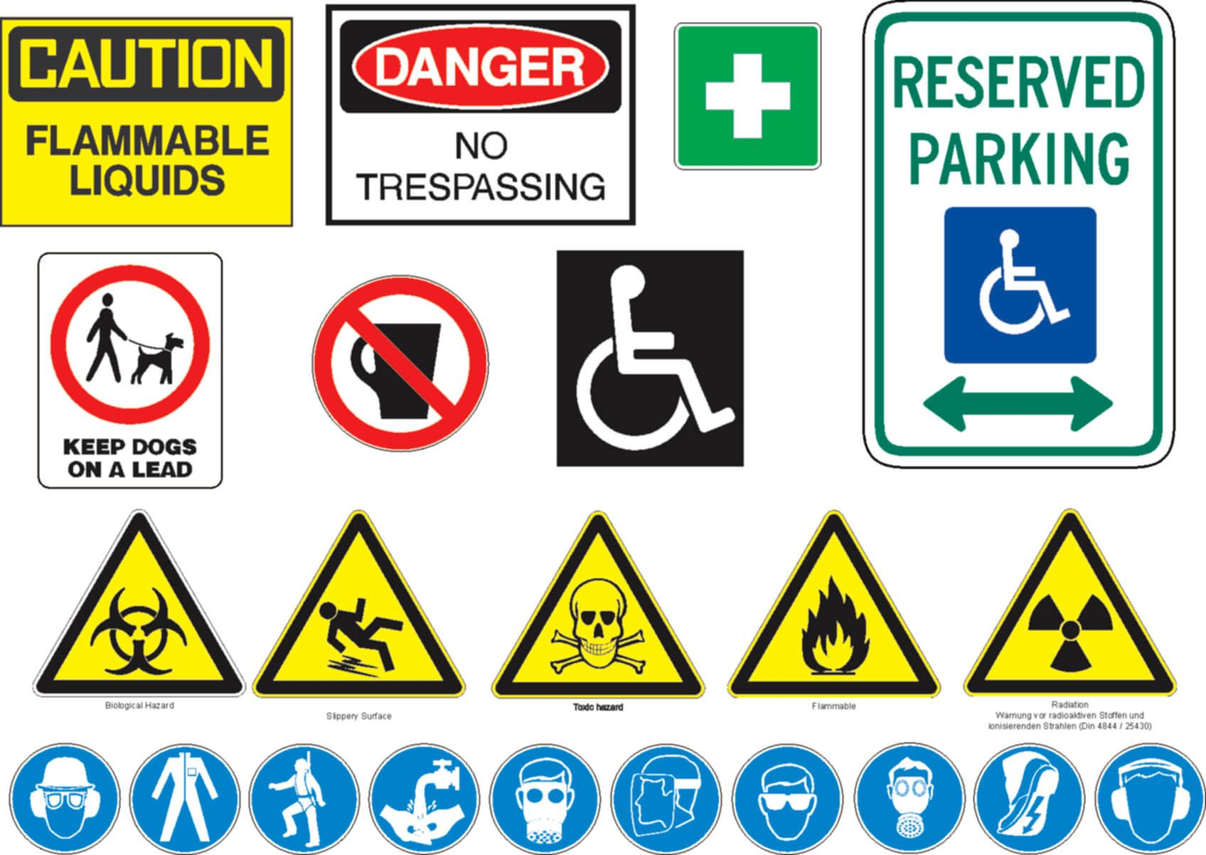 Image result for safety signs | Safety message ...