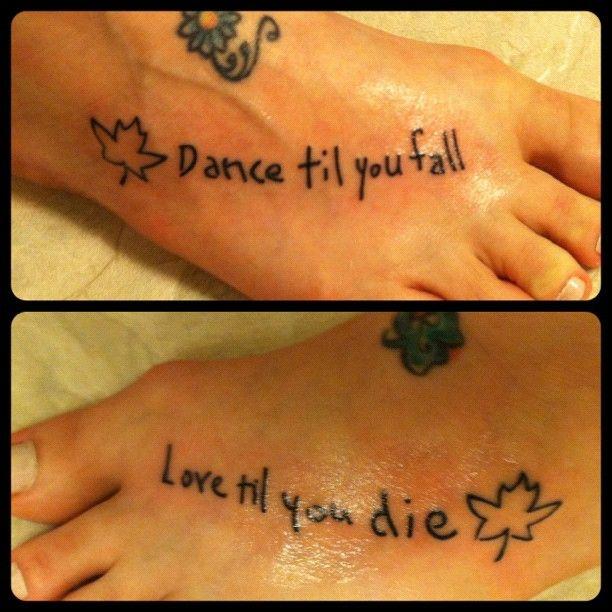 """""""dance Til You Fall; Love Til You Die."""" Carbon Leaf"""