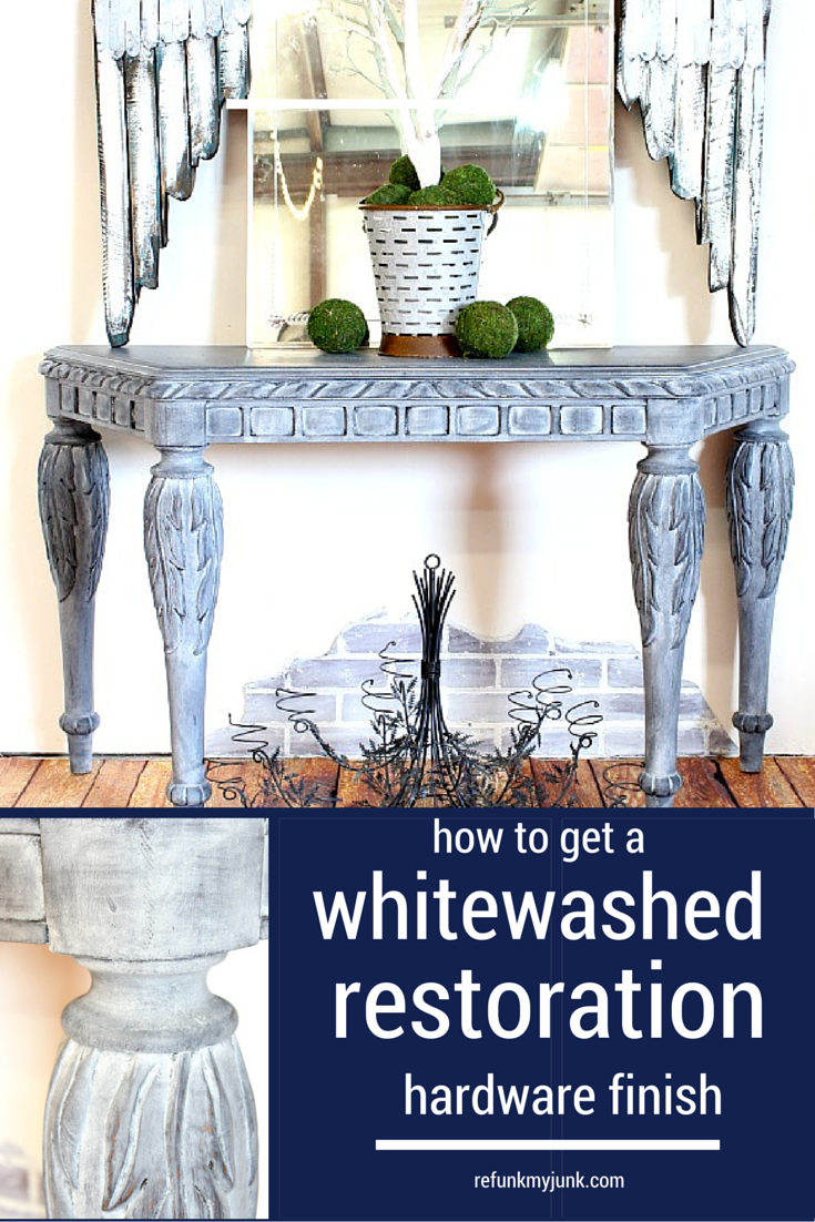 Get A Restoration Hardware Look With Whitewash Furniture Refunk My Junkrefunk Junk
