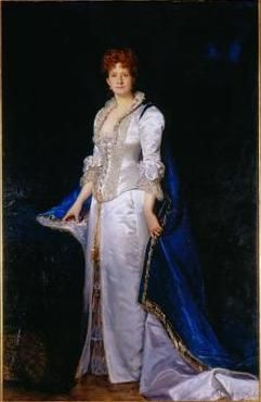 Queen Maria Pia de Sabóia (1847-1911), painted by Carlus Duran in 1880 - Ajuda National Palace