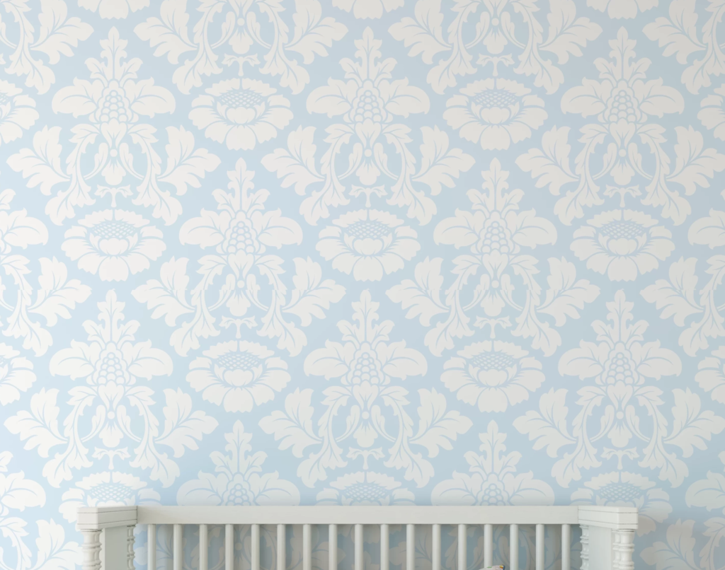 Baby Blue Damask Wallpaper Peel And Stick Wallpaper Damask Home Wall Wallpaper Removable Wallpaper Wall Wallpaper Stripe Removable Wallpaper