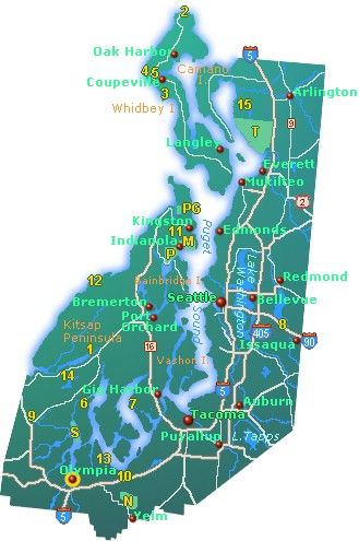 Road Map Of Puget Sound Area - The Best Sound 2018