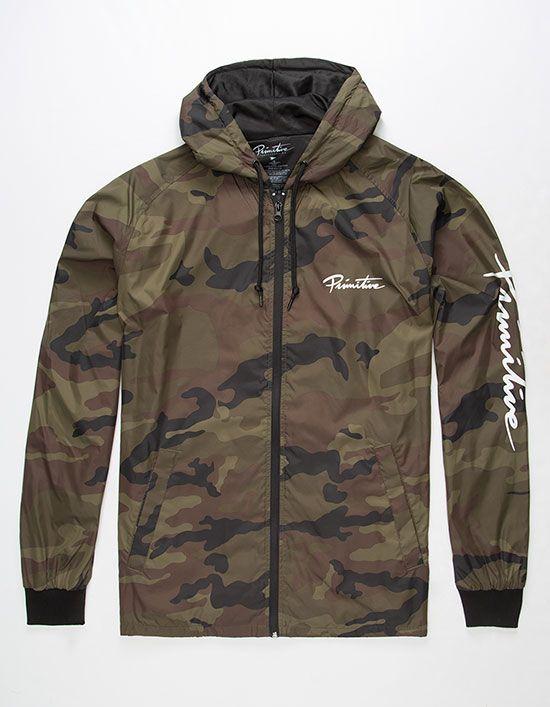 890a30791c8 PRIMITIVE Arch Camo Mens Windbreaker Jacket