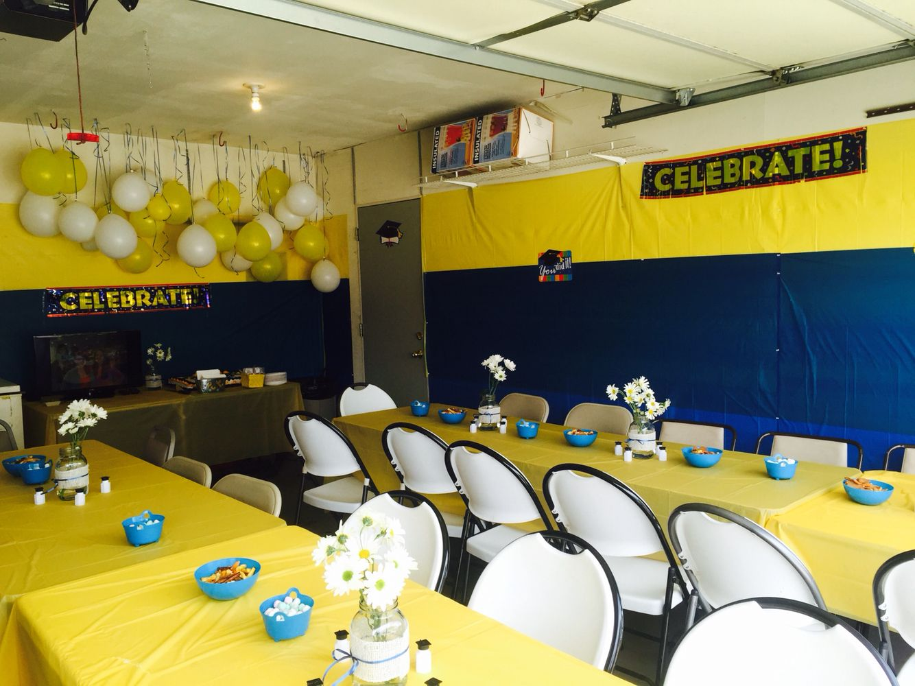 Graduation party in our garage! We cleared everything out the month ...