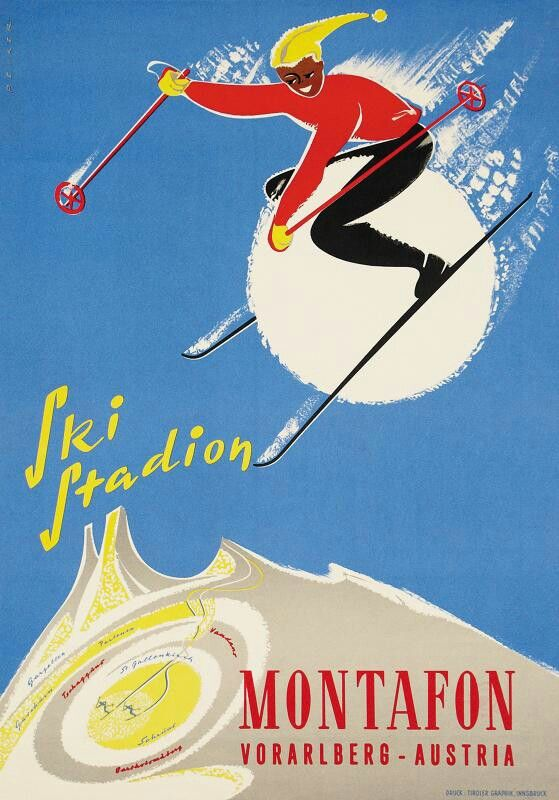austria vintage ski travel poster montagne affiche pinterest travel posters vintage. Black Bedroom Furniture Sets. Home Design Ideas