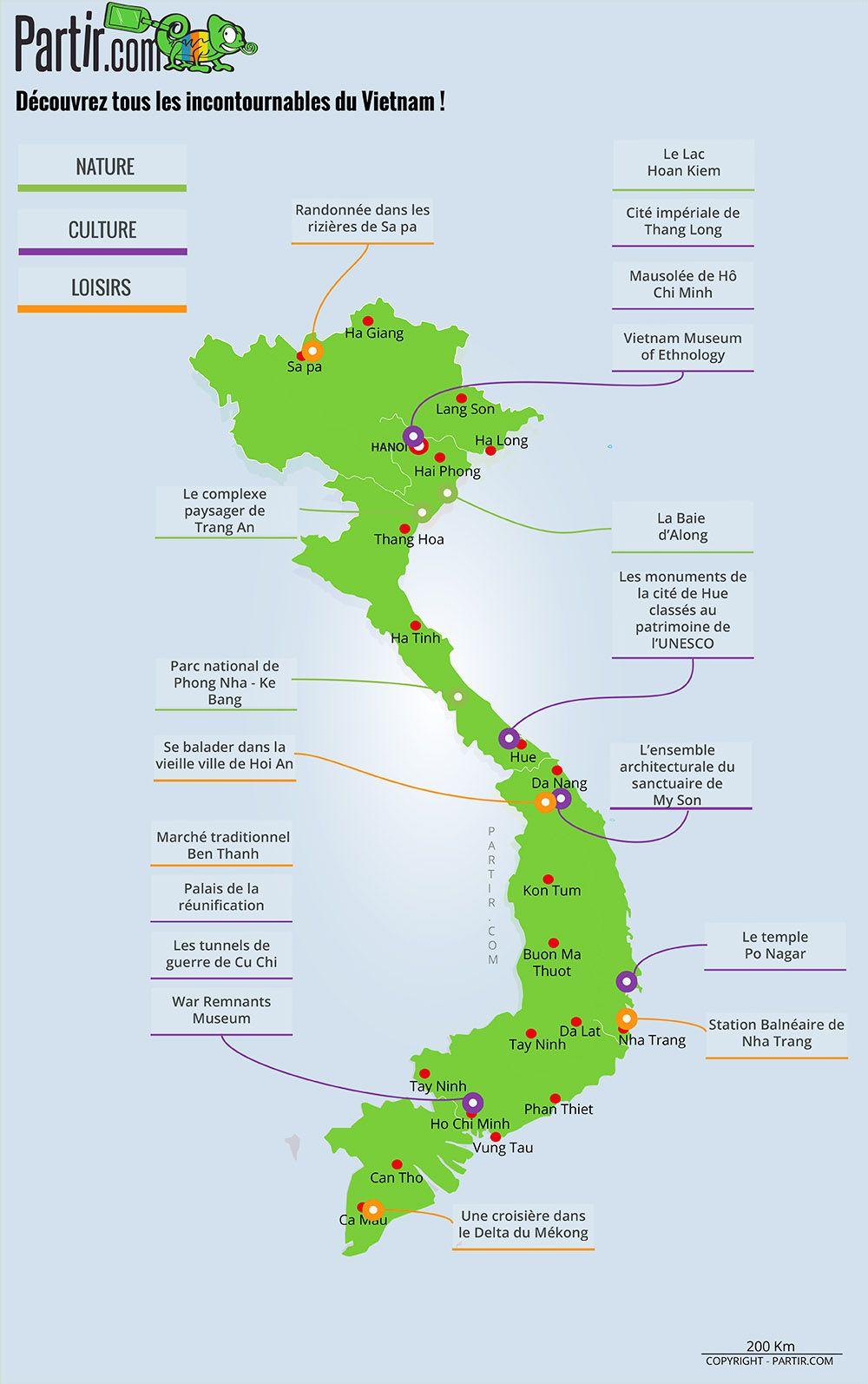 Carte Des Regions Viet Nam Vietnam Voyage Carte Touristique Carte Vietnam