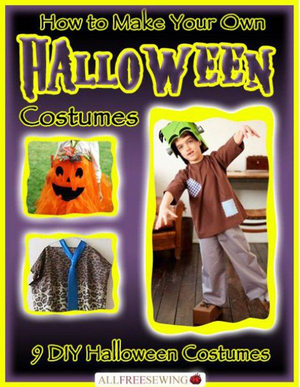 how to make your own halloween costumes 9 diy halloween costumes ebook fasching karneval. Black Bedroom Furniture Sets. Home Design Ideas