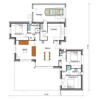 CARDI-P01  Plan Planta de casa Pinterest Design floor plans