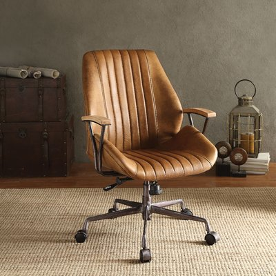 Greyleigh Kirbyville Genuine Leather Task Chair In 2020