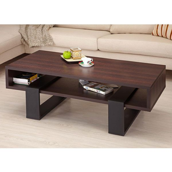 Morgan Modern Style Dark Walnut Coffee Table
