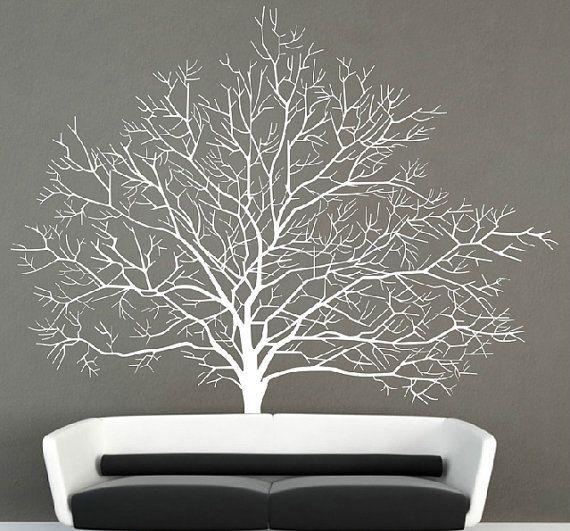 Décalque de mur arbre bouleau blanc Stickers par Walldecorative