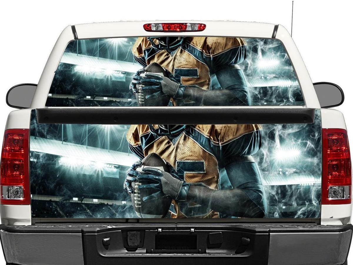 Nfl Rear Window Or Tailgate Decal Sticker Pick Up Truck Suv Car Rear Window Decals Rear Window Bumper Stickers [ 900 x 1200 Pixel ]