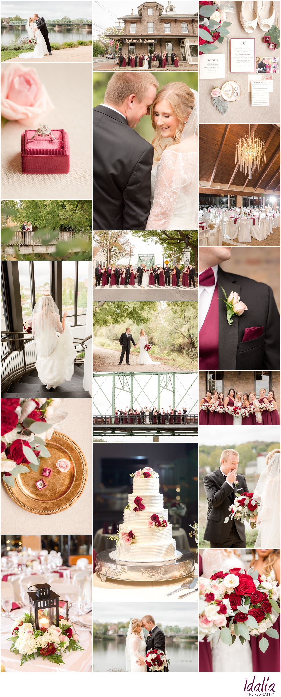 Nj Wedding Venues Lambertville Inn Clic Weddings Burgundy Ivory