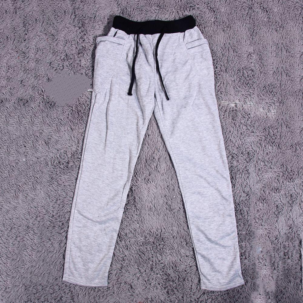 2016 Korean Style Man Polyester Cotton Elastic Waist New Long Pants For Running Yoga Sports Wholesale Korean Fashion Cotton Elastic Long Pants