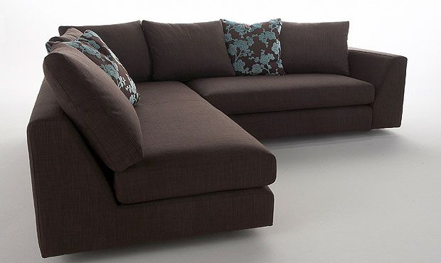 Hoxton Fabric Corner Sofa High Quality Hand Crafted Leather