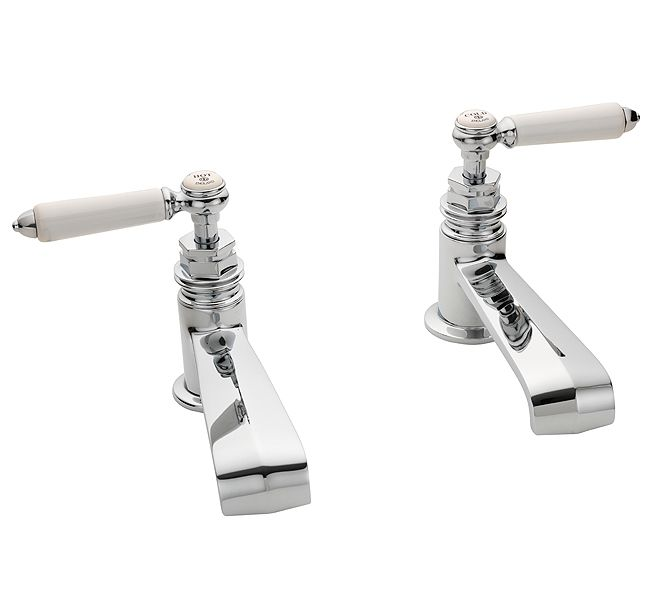 DRUMMONDS Chessleton Basin Taps With China Lever HandlesFrom £685.00 Ex. VAT  Spout Length 140mm Thread 1/2''