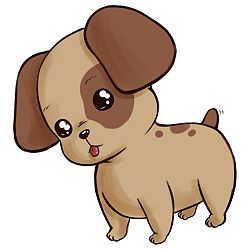 How To Draw A Cute Animal Wikihow Puppy Cartoon Anime Puppy
