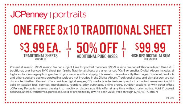 Exclusive Retailmenot Coupon For Jcpenney Portraits