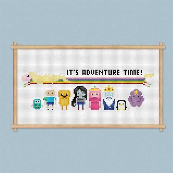 Adventure Time Cross Stitch Pattern PDF Instant Download | Perler ...