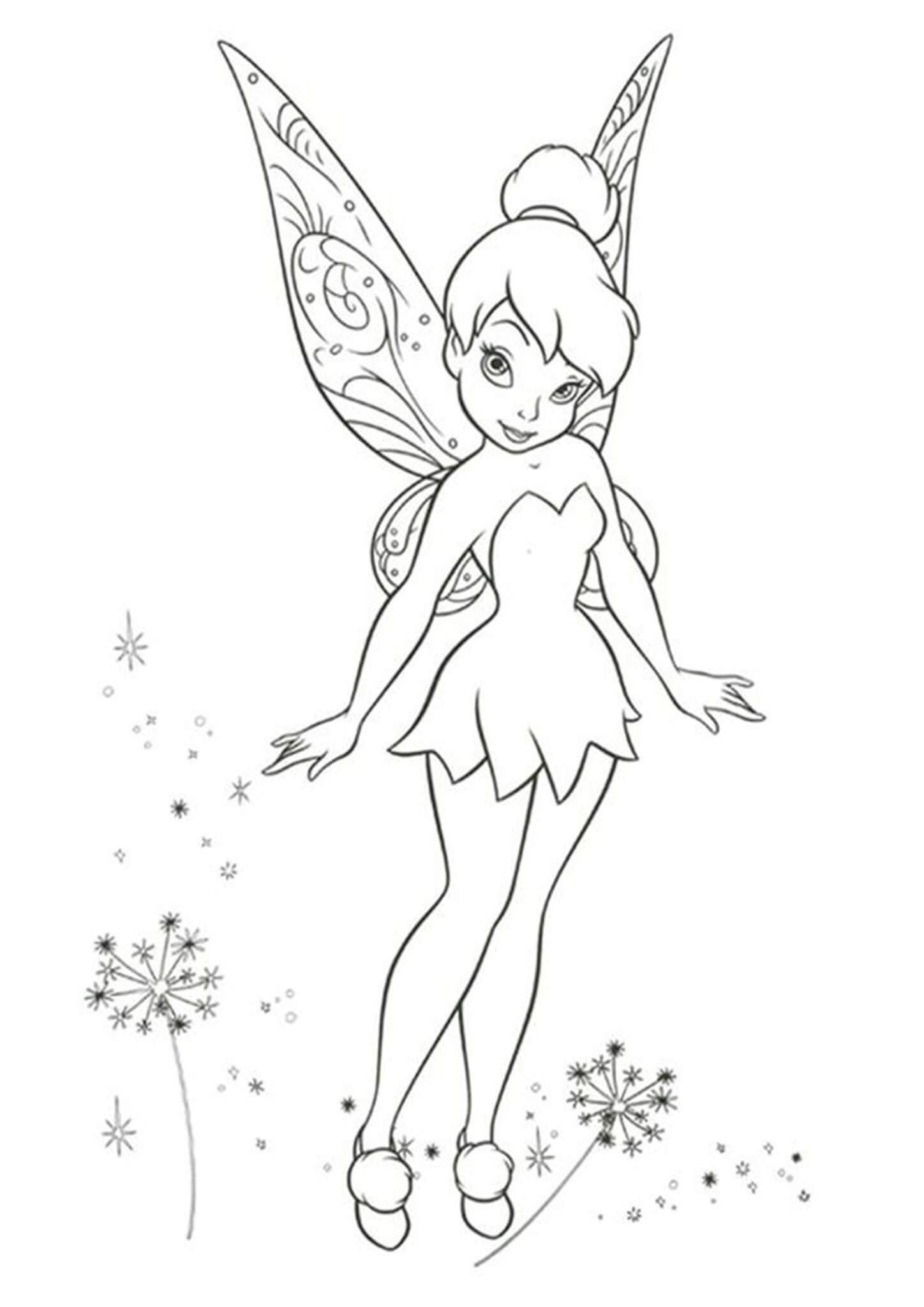 Free Easy To Print Tinkerbell Coloring Pages Tinkerbell Coloring Pages Friends Coloring Pages Tinkerbell And Friends