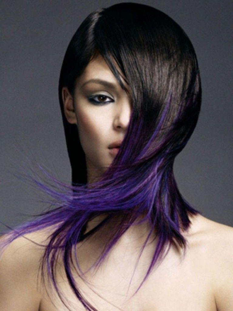 Black to Purple TwoTone Hair  Purple Hair Style  Pinterest